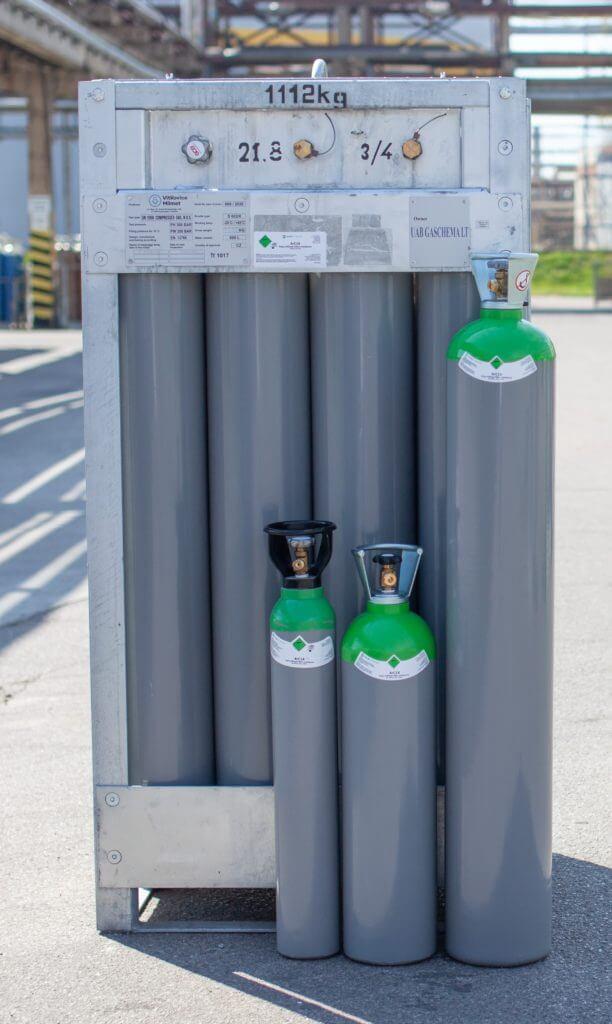 Suvirinimo dujų mišinių asortimentas